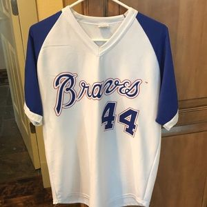 Hank Aaron Braves Jersey Size L